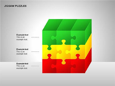 Jigsaw Puzzles Diagrams, Slide 9, 00211, Puzzle Diagrams — PoweredTemplate.com