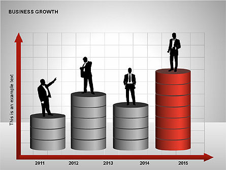 Business Results Growth Diagrams, Slide 12, 00212, Stage Diagrams — PoweredTemplate.com