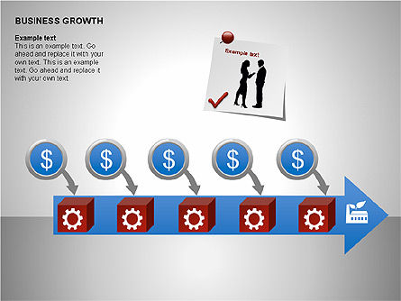 Business Results Growth Diagrams, Slide 13, 00212, Stage Diagrams — PoweredTemplate.com