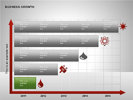 Business Results Growth Diagrams, Slide 15, 00212, Stage Diagrams — PoweredTemplate.com