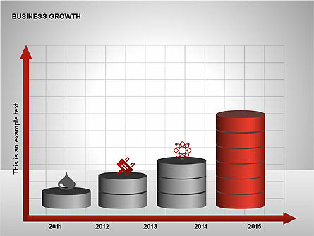 Business Results Growth Diagrams, Slide 5, 00212, Stage Diagrams — PoweredTemplate.com