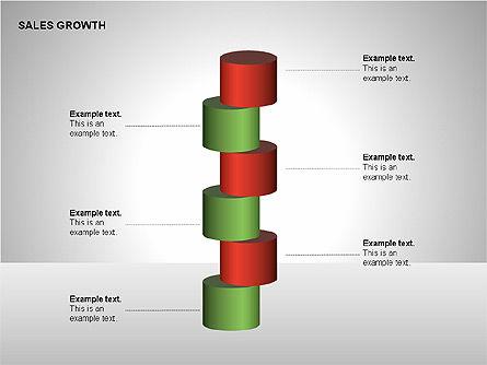 Sales Growth Diagrams, Slide 10, 00213, Stage Diagrams — PoweredTemplate.com
