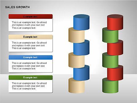Sales Growth Diagrams, Slide 11, 00213, Stage Diagrams — PoweredTemplate.com
