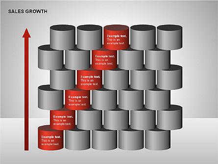 Sales Growth Diagrams, Slide 12, 00213, Stage Diagrams — PoweredTemplate.com