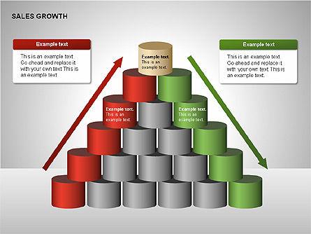 Sales Growth Diagrams, Slide 14, 00213, Stage Diagrams — PoweredTemplate.com