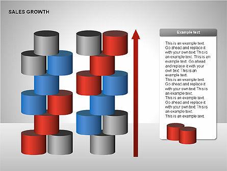 Sales Growth Diagrams, Slide 15, 00213, Stage Diagrams — PoweredTemplate.com