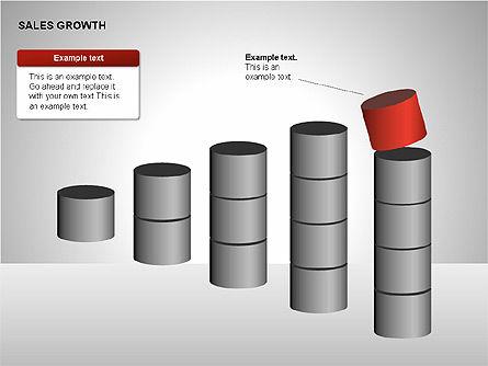 Sales Growth Diagrams, Slide 5, 00213, Stage Diagrams — PoweredTemplate.com