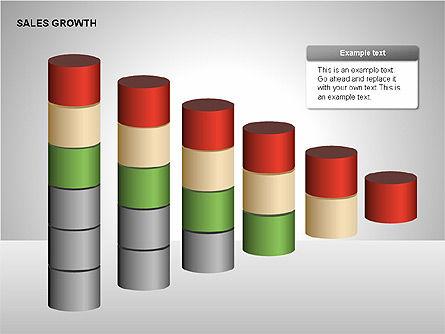 Sales Growth Diagrams, Slide 6, 00213, Stage Diagrams — PoweredTemplate.com