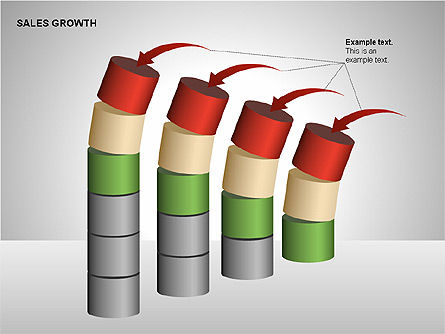 Sales Growth Diagrams, Slide 7, 00213, Stage Diagrams — PoweredTemplate.com