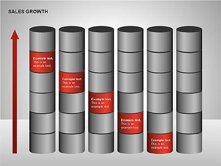 Sales Growth Diagrams, Slide 8, 00213, Stage Diagrams — PoweredTemplate.com