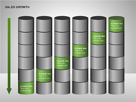 Sales Growth Diagrams, Slide 9, 00213, Stage Diagrams — PoweredTemplate.com