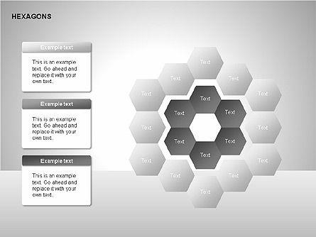 Hexagons Diagram, Slide 10, 00214, Matrix Charts — PoweredTemplate.com
