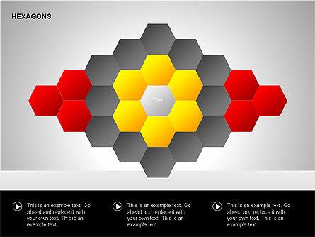 Hexagons Diagram, Slide 11, 00214, Matrix Charts — PoweredTemplate.com