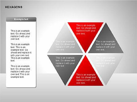 Hexagons Diagram, Slide 12, 00214, Matrix Charts — PoweredTemplate.com