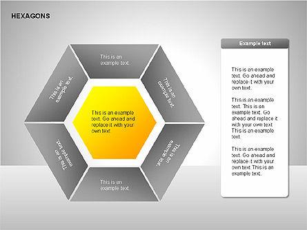 Hexagons Diagram, Slide 13, 00214, Matrix Charts — PoweredTemplate.com