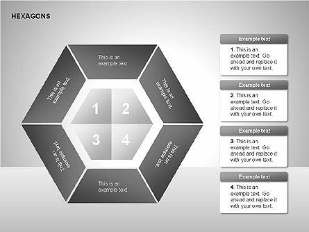 Hexagons Diagram, Slide 14, 00214, Matrix Charts — PoweredTemplate.com