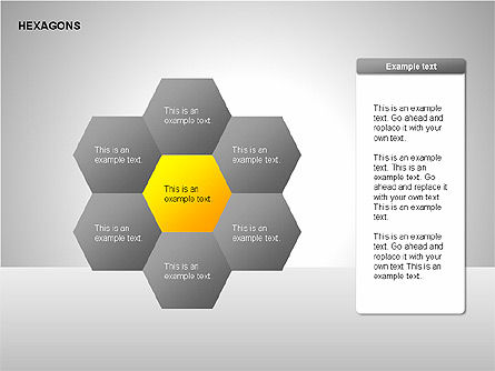 Hexagons Diagram, Slide 3, 00214, Matrix Charts — PoweredTemplate.com