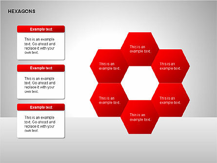 Hexagons Diagram Slide 4