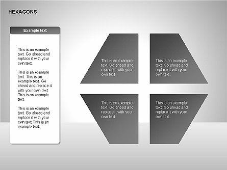 Hexagons Diagram, Slide 5, 00214, Matrix Charts — PoweredTemplate.com