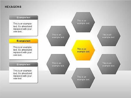 Hexagons Diagram, Slide 6, 00214, Matrix Charts — PoweredTemplate.com