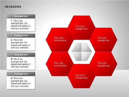 Hexagons Diagram, Slide 7, 00214, Matrix Charts — PoweredTemplate.com