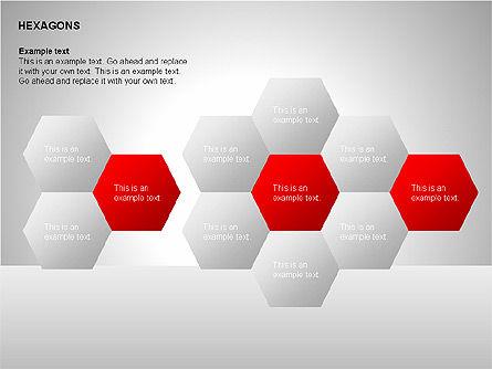 Hexagons Diagram, Slide 8, 00214, Matrix Charts — PoweredTemplate.com