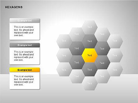 Hexagons Diagram, Slide 9, 00214, Matrix Charts — PoweredTemplate.com
