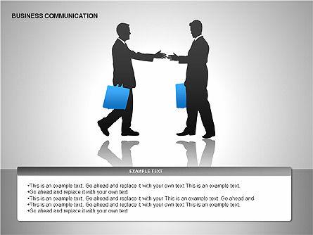 Business Communication Diagrams, Slide 10, 00215, Shapes — PoweredTemplate.com