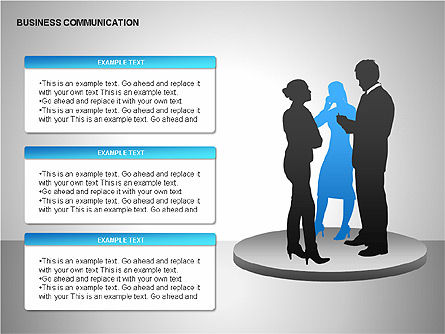Business Communication Diagrams, Slide 11, 00215, Shapes — PoweredTemplate.com