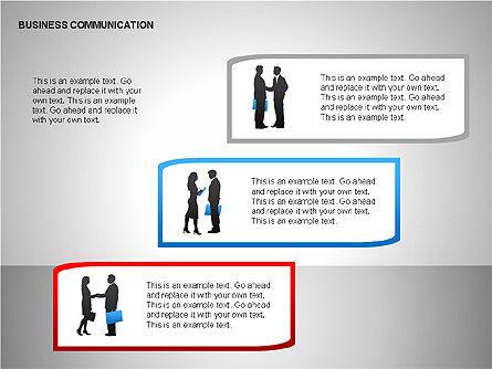 Business Communication Diagrams, Slide 12, 00215, Shapes — PoweredTemplate.com