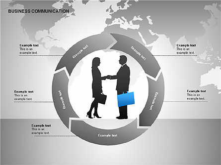 Business Communication Diagrams, Slide 13, 00215, Shapes — PoweredTemplate.com