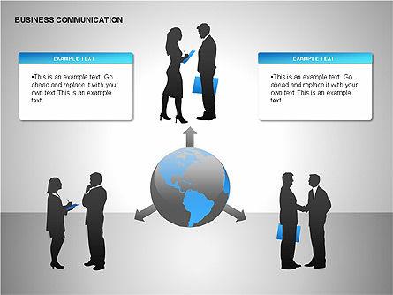 Business Communication Diagrams, Slide 14, 00215, Shapes — PoweredTemplate.com
