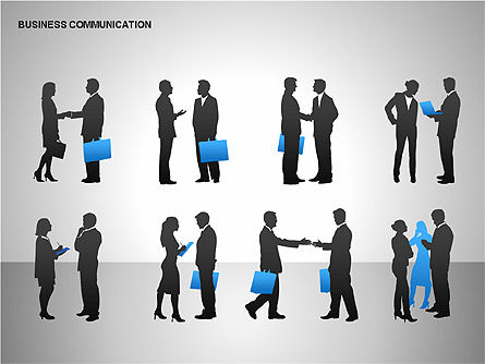 Business Communication Diagrams, Slide 15, 00215, Shapes — PoweredTemplate.com