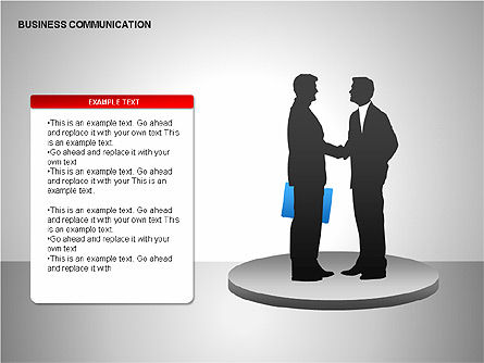 Business Communication Diagrams, Slide 4, 00215, Shapes — PoweredTemplate.com