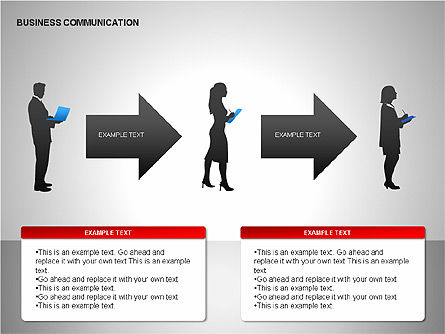 Business Communication Diagrams, Slide 5, 00215, Shapes — PoweredTemplate.com