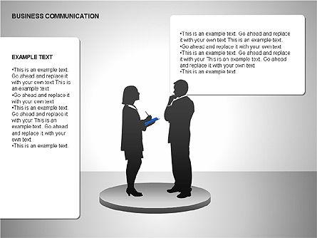 Business Communication Diagrams, Slide 6, 00215, Shapes — PoweredTemplate.com