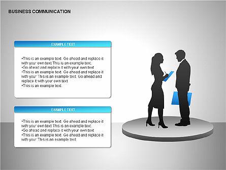 Business Communication Diagrams, Slide 7, 00215, Shapes — PoweredTemplate.com