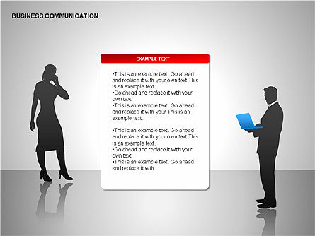 Business Communication Diagrams, Slide 8, 00215, Shapes — PoweredTemplate.com