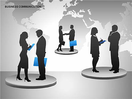 Business Communication Diagrams, Slide 9, 00215, Shapes — PoweredTemplate.com