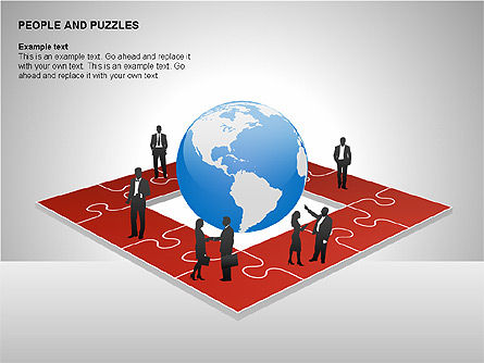 People and Puzzles Diagrams, Slide 10, 00216, Puzzle Diagrams — PoweredTemplate.com