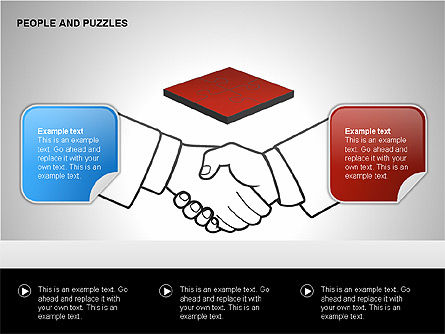 People and Puzzles Diagrams, Slide 12, 00216, Puzzle Diagrams — PoweredTemplate.com