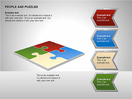 People and Puzzles Diagrams, Slide 13, 00216, Puzzle Diagrams — PoweredTemplate.com
