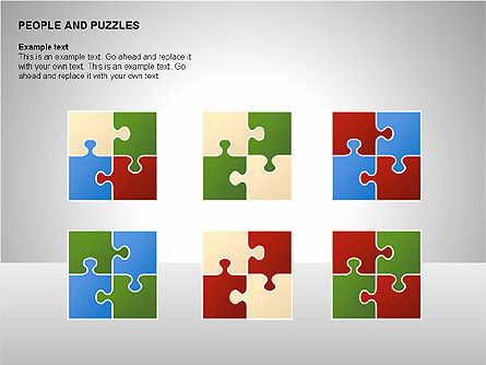 People and Puzzles Diagrams, Slide 14, 00216, Puzzle Diagrams — PoweredTemplate.com