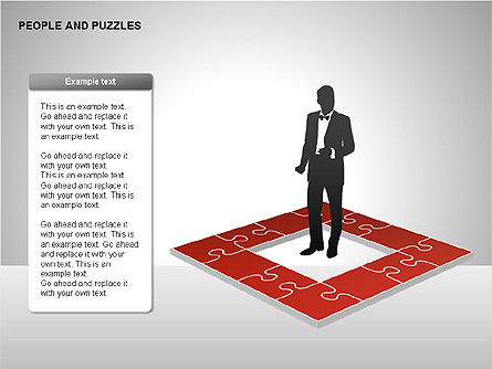 People and Puzzles Diagrams, Slide 15, 00216, Puzzle Diagrams — PoweredTemplate.com