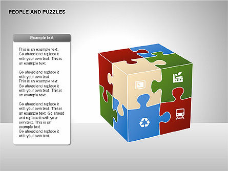 People and Puzzles Diagrams, Slide 2, 00216, Puzzle Diagrams — PoweredTemplate.com