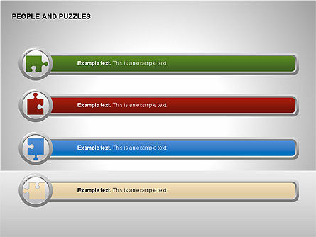 People and Puzzles Diagrams, Slide 3, 00216, Puzzle Diagrams — PoweredTemplate.com
