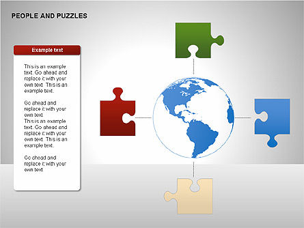 People and Puzzles Diagrams, Slide 4, 00216, Puzzle Diagrams — PoweredTemplate.com