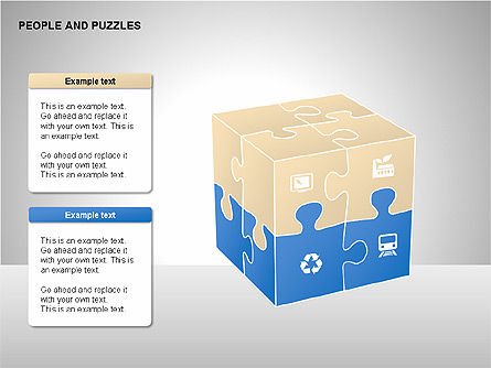 People and Puzzles Diagrams, Slide 5, 00216, Puzzle Diagrams — PoweredTemplate.com