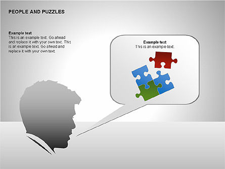 People and Puzzles Diagrams, Slide 6, 00216, Puzzle Diagrams — PoweredTemplate.com