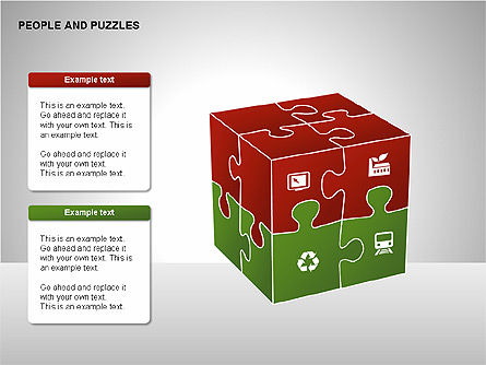 People and Puzzles Diagrams, Slide 7, 00216, Puzzle Diagrams — PoweredTemplate.com